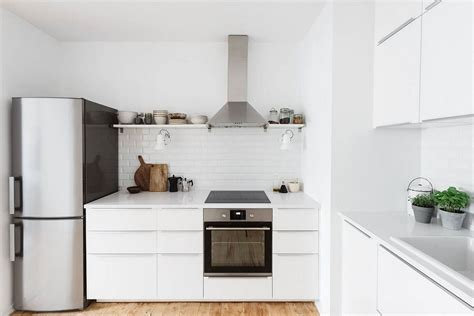 All White Kitchen Designs Serenely Scandinavian Light Filled Renovation Of Lisbon Apartment