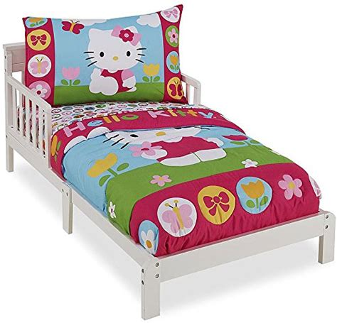 hello kitty 4 piece bedroom in a box galleon hello kitty 4 piece toddler bedding set