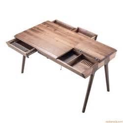 metis bureau design en bois avec tiroirs et
