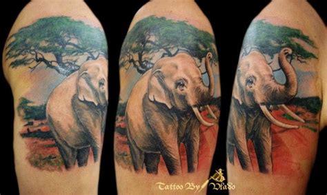 elephant tattoo on shoulder blade 27 cool designer elephant shoulder tattoos
