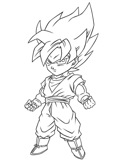 Goku Saiyan 5 Coloring Pages goku saiyan 5 coloring pages z