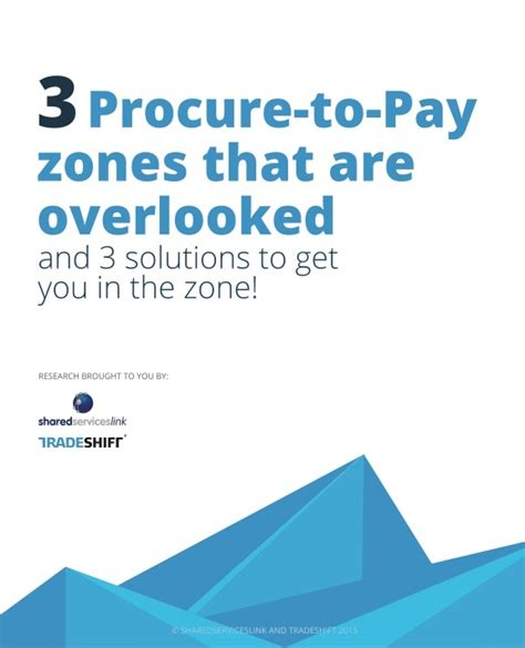 Overlooked Invoice Letter 3 Procure To Pay Zones That Are Overlooked Infographic Tradeshift Tradeshift