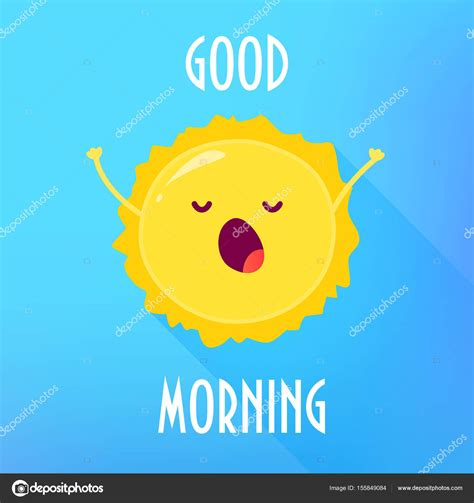 imagenes de good morning animadas dibujos animados de sol se estira y bosteza buena carta