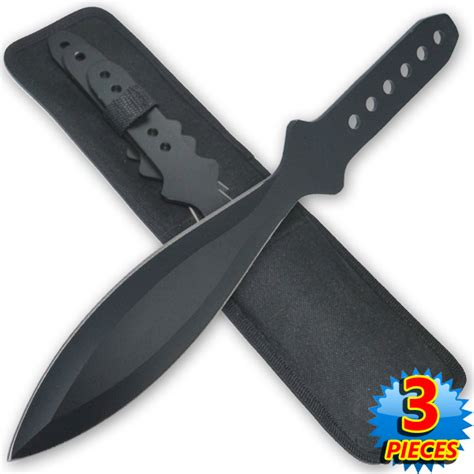 12 inch knife 12 inch 7 6 oz black quot tiger thrower quot throwing knives set