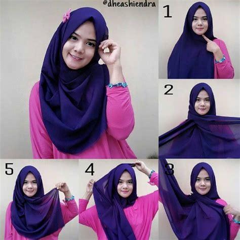 tutorial pashmina simple tanpa ciput cara memakai jilbab pashmina agar tidak berantakan