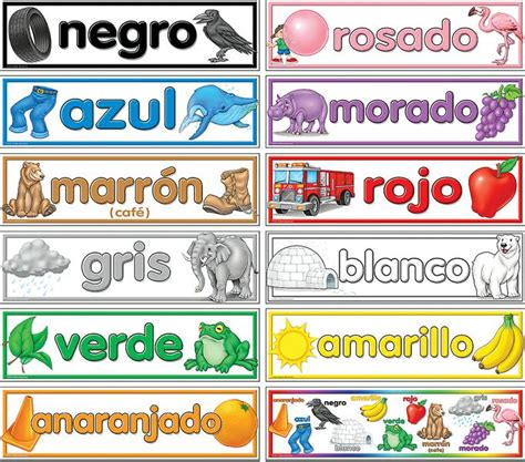 color in spanish colors spanish headliners tcr4945