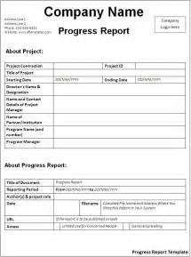 Progress Report Template by Progress Report Template Free Formats Excel Word