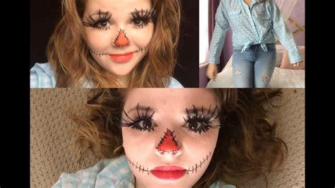 minute scarecrow haircostume makeup youtube