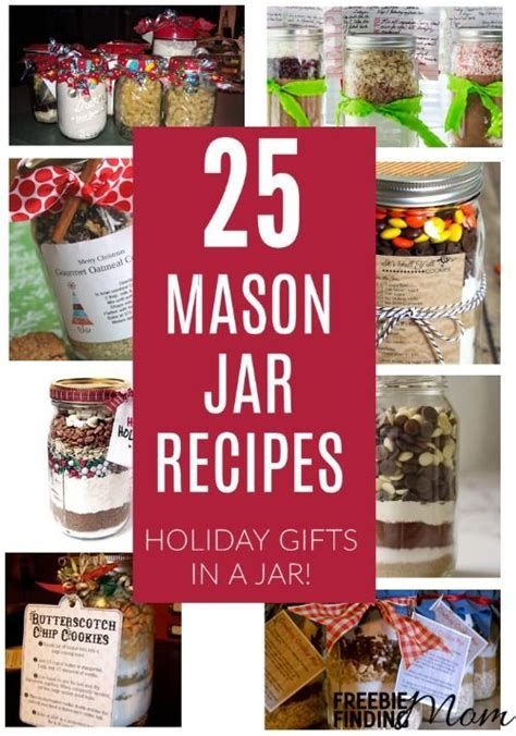 25 mason jar recipes holiday gifts in a jar jars jar