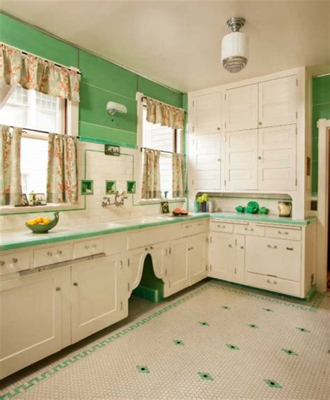restored kitchen cabinets restored 1910 kitchen the tile floor dates to the 1930