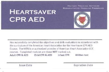Heartsaver Cpr Aed Card Template by 8 11 Maintenance Of Course Records