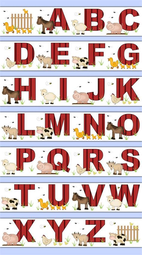 wwe wallpaper border for boys bedroom farm animal alphabet wallpaper border wall decals barnyard