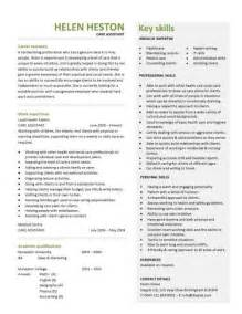 Care Assistant Cv Template Job Description Cv Example