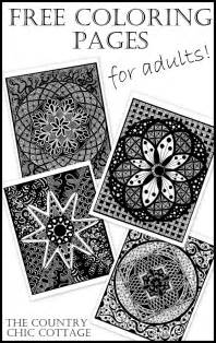 Free coloring pages for adults a great way to relieve stress