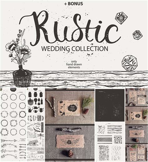 Lovely Rustic Christmas Wedding Invitations #5: Wedding-rustic-elements-collection.jpg