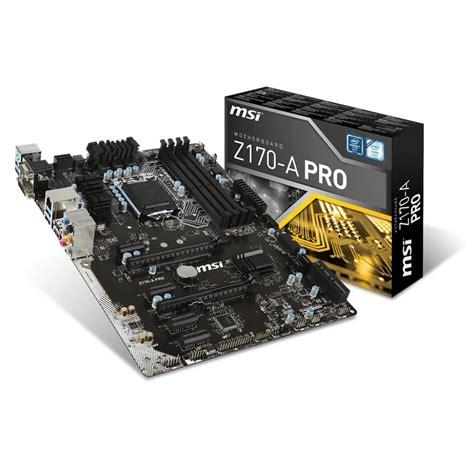 Msi Z170 A Pro msi z170 a pro carte m 232 re msi sur ldlc