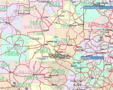 texas zip code maps texas zip code map