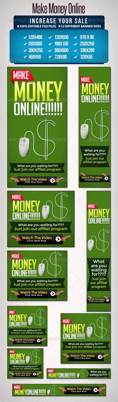 Make Money Online Banner - make money online banner set 12 sizes graphicriver