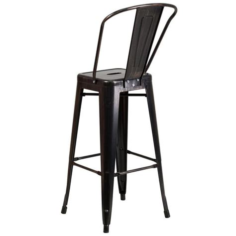 Antique Gold Bar Stools by Metal 30 Bar Stool In Black Antique Gold Ch 31320 30gb