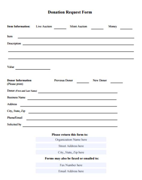 36 Free Donation Form Templates In Word Excel Pdf In Donation Form Template
