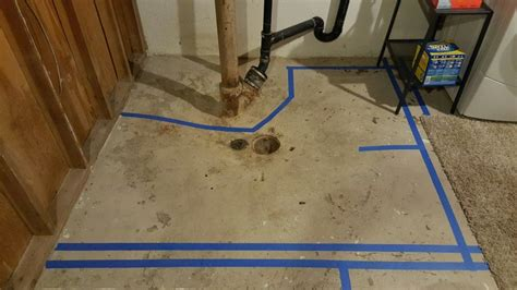 basement floor drain as shower drain terry