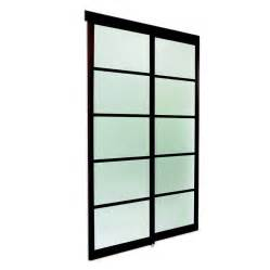 closet sliding doors lowes espresso frosted glass sliding closet door lowe s canada