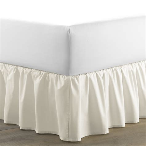 bed shirts laura ashley home ruffled 150 thread count bed skirt reviews wayfair