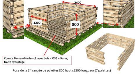 Abris Bois En Palette by Abri Jardin En Palettes