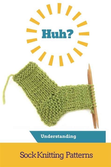 knitting pattern understanding sock knitting patterns