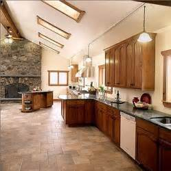 tiled kitchen floors ideas terra cotta tile kitchen decobizz