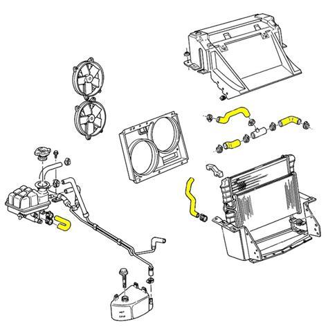 lt1 radiator hose diagram 1993 1994 corvette engine cooling system rubber hose set