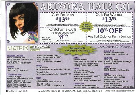 haircut coupons chandler az makeup university inc haircut coupon for star at az hair