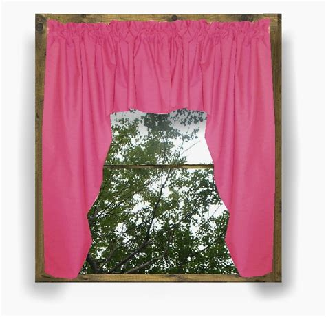 Pink Valances solid pink fuchsia colored swag window valance