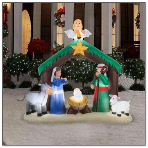 inflatable outdoor christmas decorations clearance