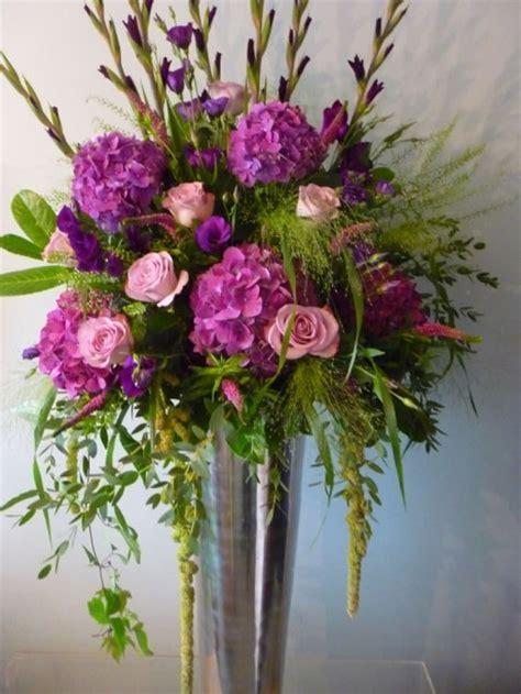 Large Vase Floral Arrangements by Large Pewter Vase Corporate Event