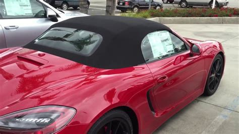 carmine red porsche 2016 boxster gts in carmine red youtube