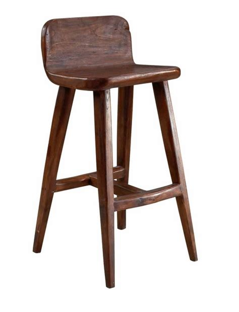 Teak Bar Stools by Selamat Hewn Teak Bar Stool