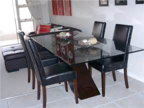 glass top dining tables with wood base glass top wood base