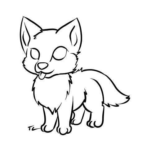 wolf pup lineart free clipart best clipart best