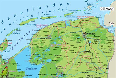 netherlands map groningen image gallery kaart groningen