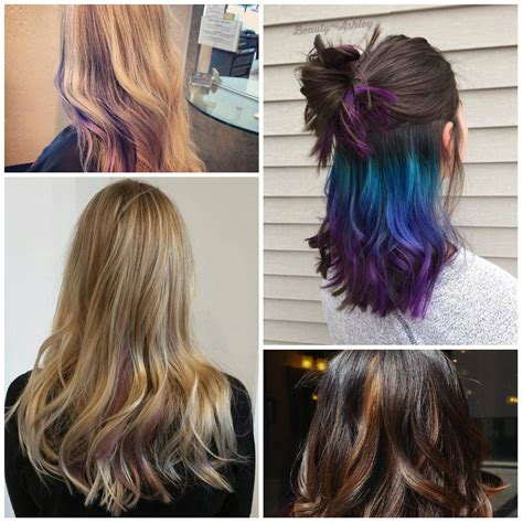 peek a boo color highlights bold peek a boo highlights for 2017 best hair color
