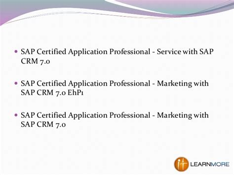 how to certify a service how to get sap crm certification