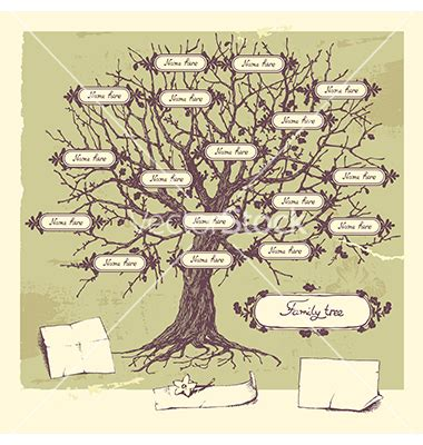 Free Vector People File Page 3 Newdesignfile Com Family Tree Template Vintage Vector
