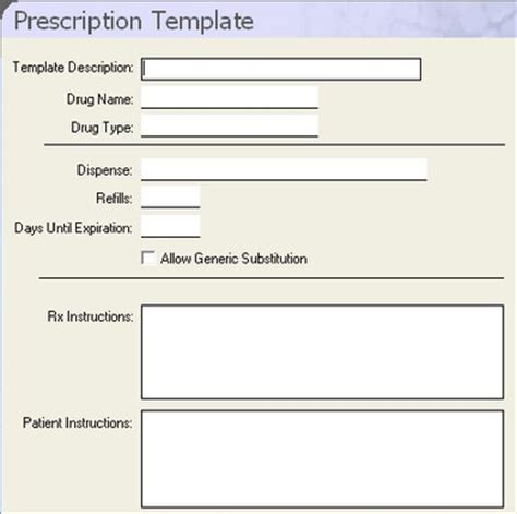 prescription template blank medication labels template pictures to pin on