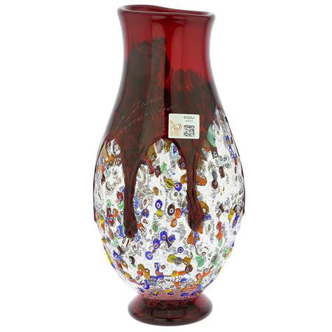 millefiori vase murano glass vases murano millefiori glass bottle