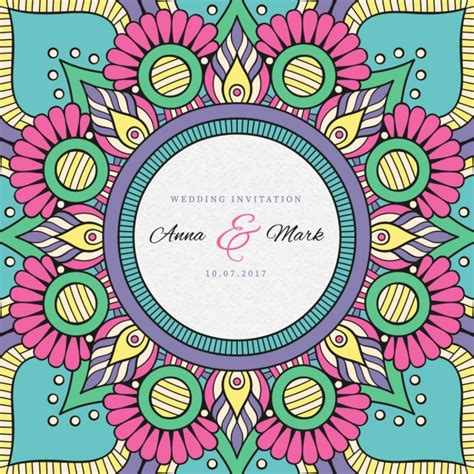 Indian Wedding Invitation Cards Vector Free by Indian Wedding Invitation Vector Free
