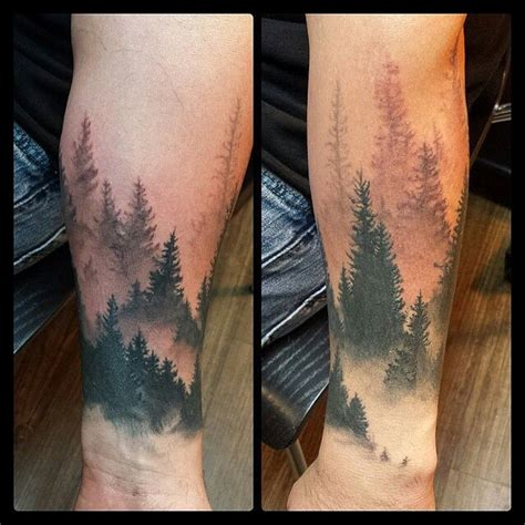 tattoo lower arm simple simple red wolf with simple forest lower arm tattoo