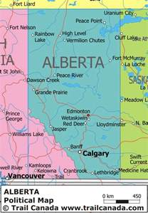 city map canada map of alberta canada with cities