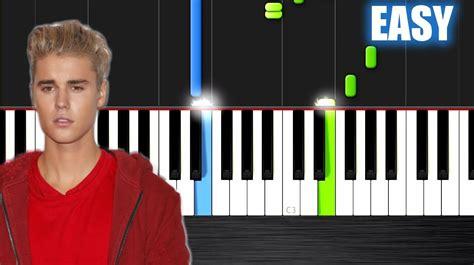 tutorial piano love yourself justin bieber love yourself easy piano tutorial by