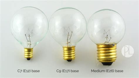 light g40 size comparrison bulb socket size comparison guide partylights
